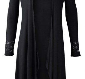 Veste femme longue noire : elle est chic et elle vous garde au chaud